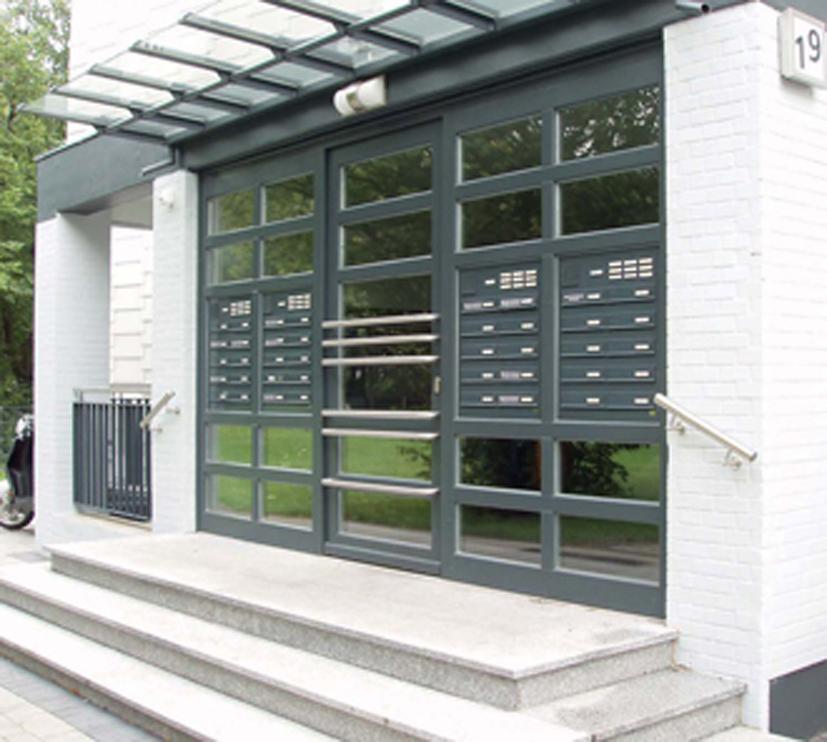 Türseitenteil-Briefkastenanlagen von allebacker Briefkastensysteme, dem neuen Premiumpartner des Türen-Fenster-Portals: Briefkasten, Briefkästen, Briefkastenanlagen