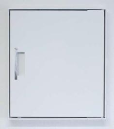 Mauerdurchwurf-Briefkastenanlage mit isolierter Innentür, geschlossen