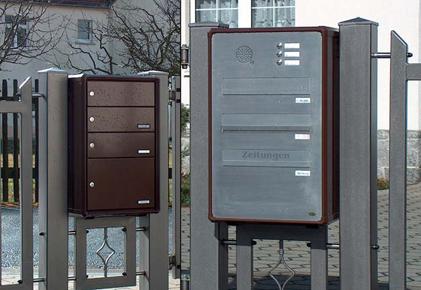 Zaunbriefkasten - Zaunbriefkastensystem - Briefkästen an Zäune von allebacker