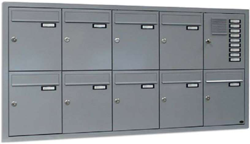 Unterputz-Briefkästen mit Klingeltaster und Sorechsieb, Ausführung senkrecht - www.tueren-fenster-portal.de