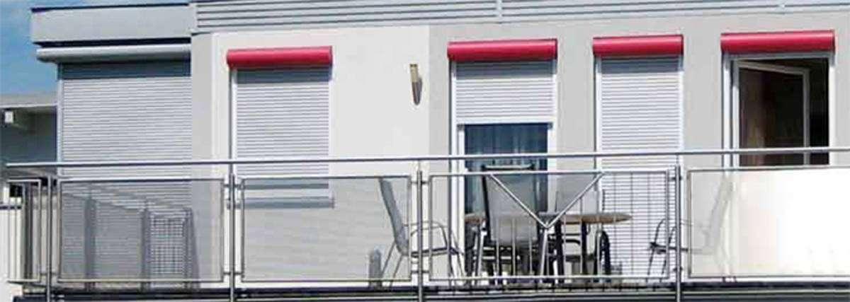 Vorsatzrollladen, Vorsatzrollo, runde Kastenform Foto: Folgner Rollladensysteme - www.tueren-fenster-portal.de