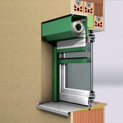 Vorsatzrollladen, Vorbaurollo Blende 45 Grad abgeschrägt - www.tueren-fenster-portal.de